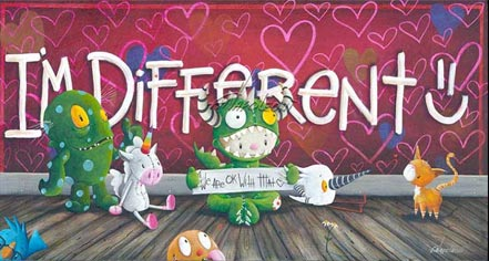 artist painter fabio napoleoni painting im different