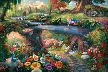 thomas kinkade alice in wonderland