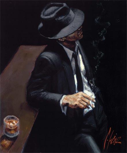 fabian perez study for black suit ii
