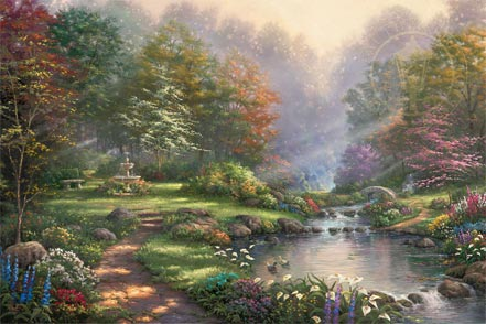 thomas kinkade reflections of faith
