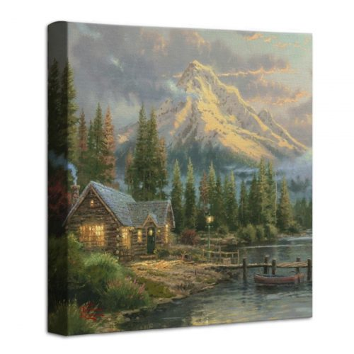 Lakeside Hideaway – 14″ x 14″ Gallery Wrapped Canvas