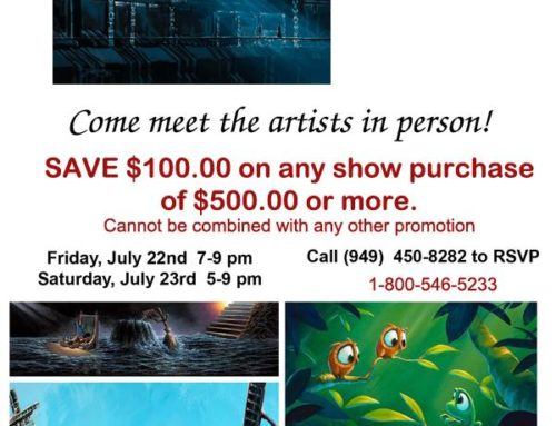 Meet Rob Kaz & Rodel Gonzalez at Village Gallery Irvine Spectrum Friday July 23 & Saturday July 24th