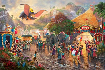 thomas kinkade disney dumbo
