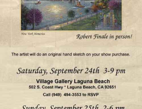 Meet Artist Robert Finale In Person at Village Gallery Laguna Beach, and Irvine Spectrum locations!