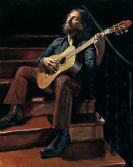 fabian perez self portrait with guitar