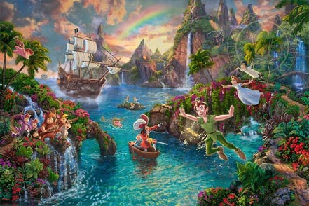 thomas kinkade peter pans never land