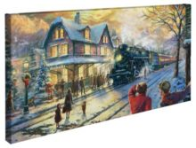 """All Aboard for Christmas – 16"""" x 31"""" Gallery Wrapped Canvas"""