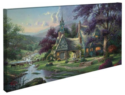 "Clocktower Cottage – 16"" x 31"" Gallery Wrapped Canvas"