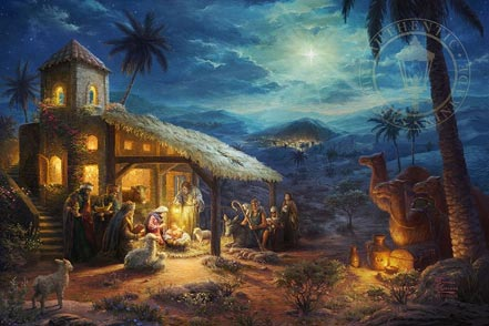 thomas kinkade nativity