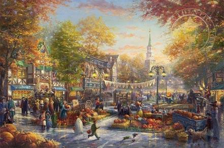 thomas kinkade the pumpkin festival