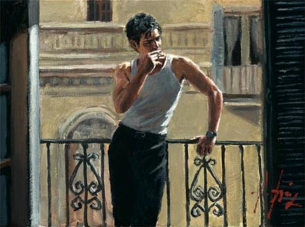 fabian perez smoking under the sun