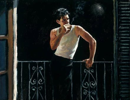 fabian perez cool breeze and cigarette