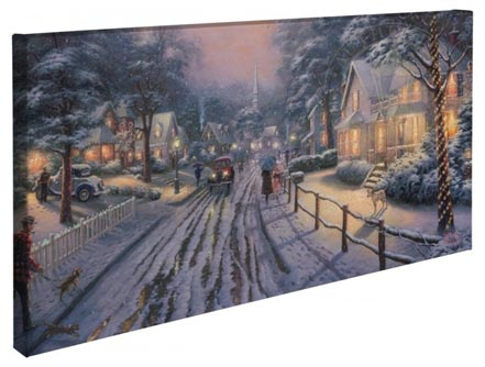 "Hometown Christmas Memories – 16"" x 31"" Gallery Wrapped Canvas"
