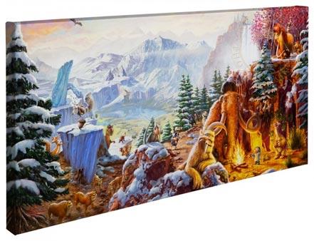 "Ice Age – 16"" x 31"" Gallery Wrapped Canvas"