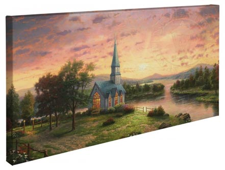 "Sunrise Chapel – 16"" x 31"" Gallery Wrapped Canvas"