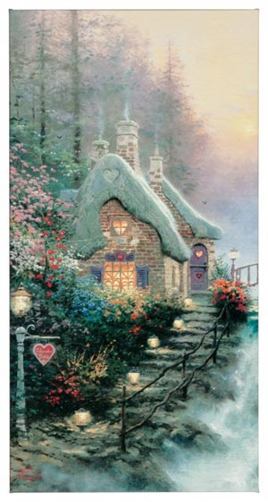 "Sweetheart Cottage II – 16"" x 31"" Gallery Wrapped Canvas"