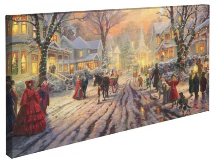 "Victorian Christmas Carol, A – 16"" x 31"" Gallery Wrapped Canvas"