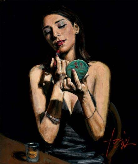 fabian perez lipstick and mirror ii