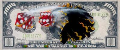 michael godard $1000 bill we olive cash