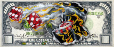 michael godard $1000 bill winning big
