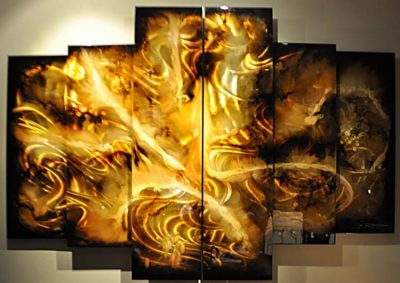 8 Panel Abstract Art by Chris DeRubias
