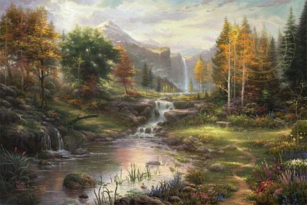 thomas kinkade reflections of family
