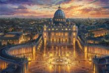 thomas kinkade vatican sunset