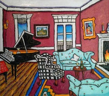 Piano Room By Leslie Lew Burns Auction Lot 406