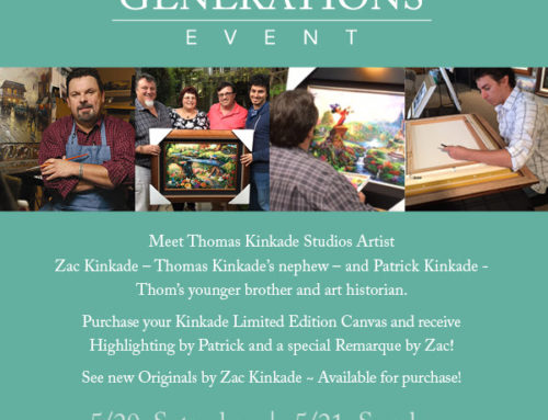 Thomas Kinkade Generations Event! 5/20-21 10AM to 6PM at Village Gallery Irvine Spectrum