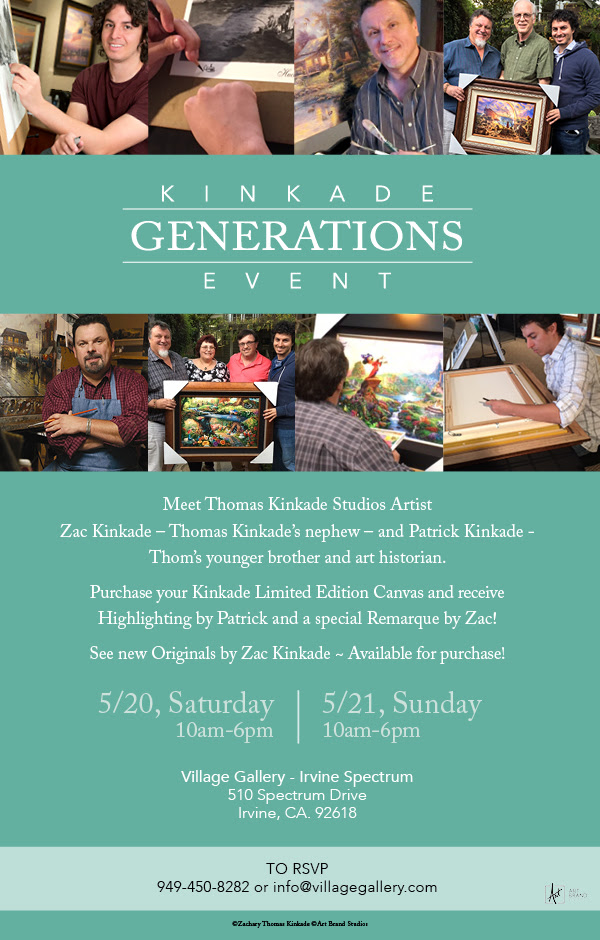 Thomas Kinkade Generations Event at Village Gallery