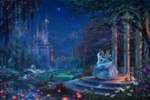 thomas kinkade cinderella dancing in the starlight