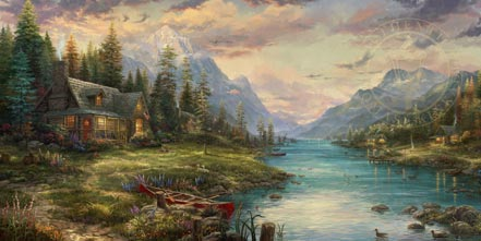 thomas kinkade a fathers perfect day