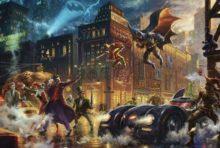 thomas kinkade the dark knight saves gotham city