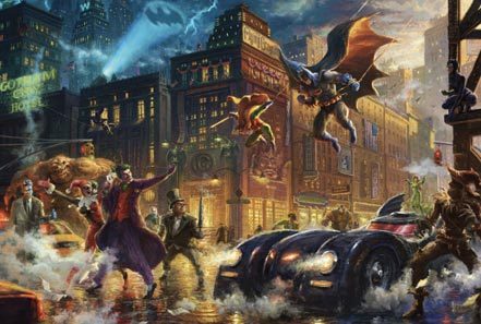 thomas kinkade the dark knight saves gotham city
