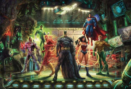 thomas kinkade the justice league