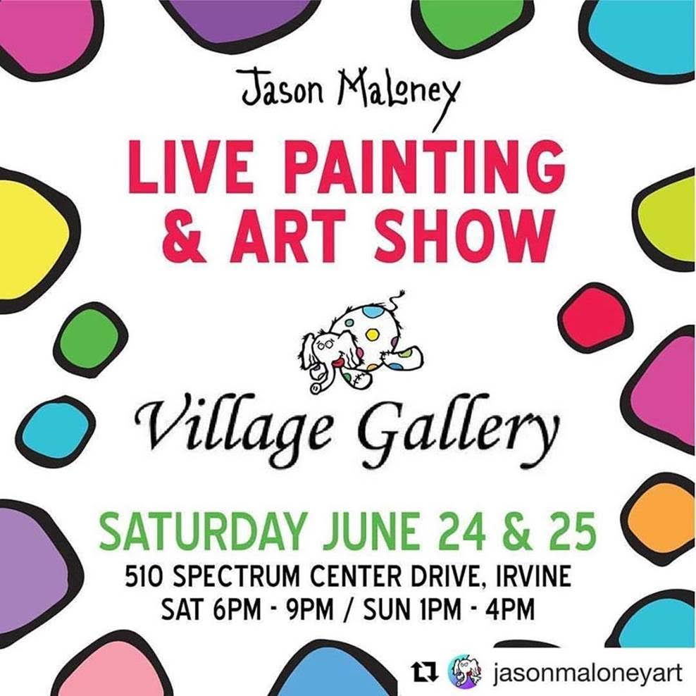 Jason Maloney Art Show at Village Gallery Irvine Spectrum