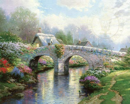 thomas kinkade blossom bridge