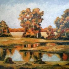 Autumn Fields by Milan an original oil painting
