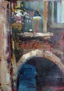 Steve Quartly Original Oil Painting Vicolo A Venezia