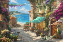 thomas kinkade italian cafe