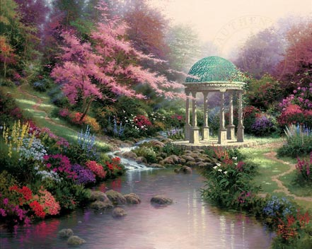 thomas kinkade pools of serenity