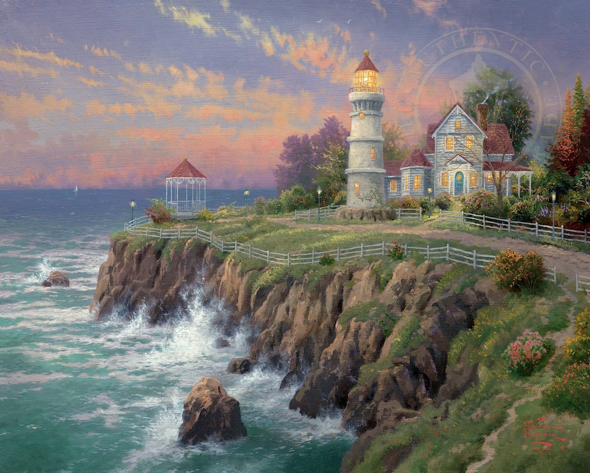 Victorian Light By Thomas Kinkade Village Gallery