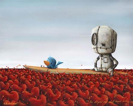 fabio napoleoni the right one will come along metal art print