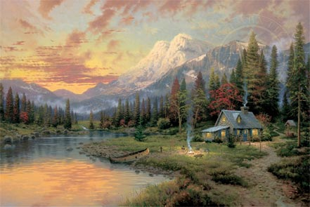 thomas kinkade evening majesty