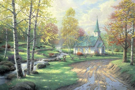 thomas kinkade the aspen chapel