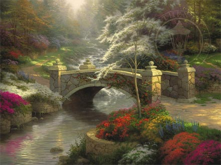 thomas kinkade bridge of hope