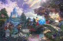 thomas kinkade cinderella wishes upon a dream
