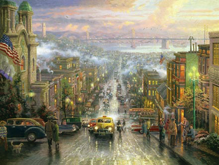 thomas kinkade heart of san francisco