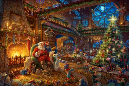 thomas kinkade santas workshop