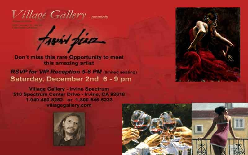 Fabian Perez Art Show Village Gallery